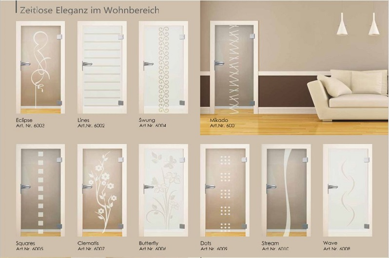 glastur fur wohnzimmer. Black Bedroom Furniture Sets. Home Design Ideas