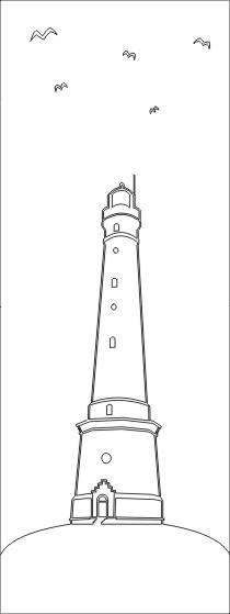 """ESG 4mm mit Sandstrahlmotiv """"Leuchtturm"""" Glaseinsatz"""