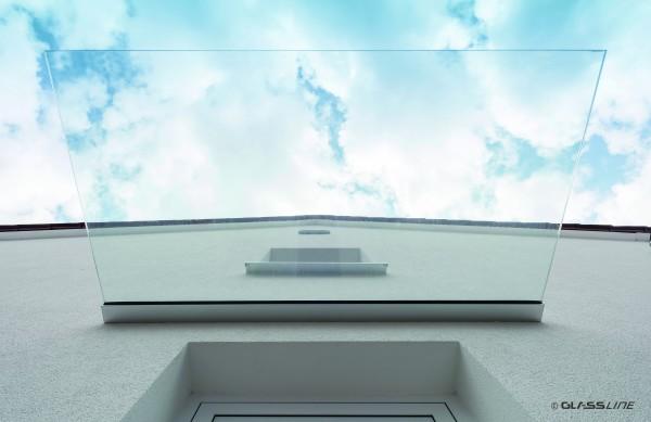 Ganzglasvordach Canopy Cloud 2000mm x 1100mm ACTIV CLEAN