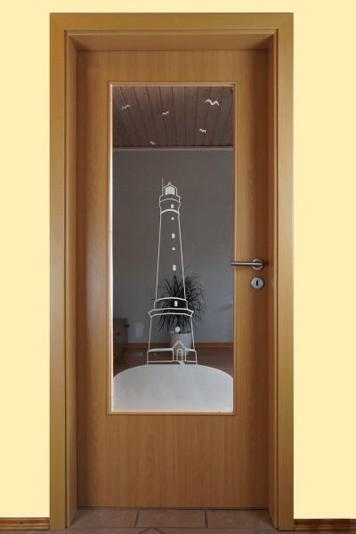 """Glaseinsatz Motiv """"Leuchtturm"""""""