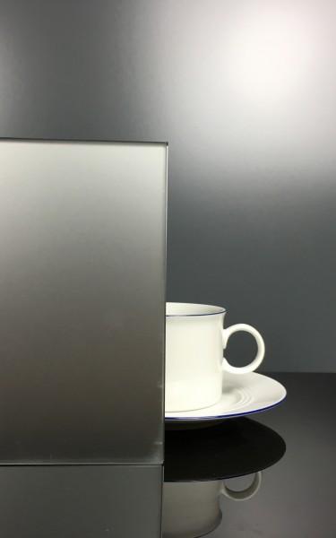Küchenrückwand Silber Grau matt F