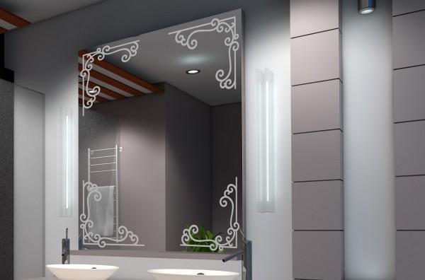 """Design Spiegel """"Zierecken"""""""