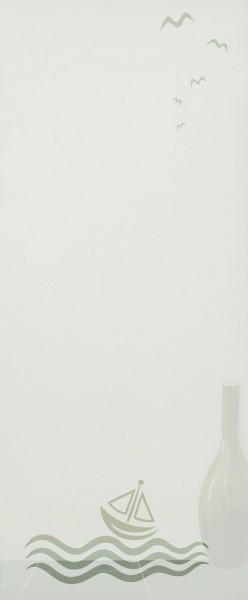 """ESG 4mm mit Sandstrahlmotiv """"Regatta"""" Glaseinsatz"""