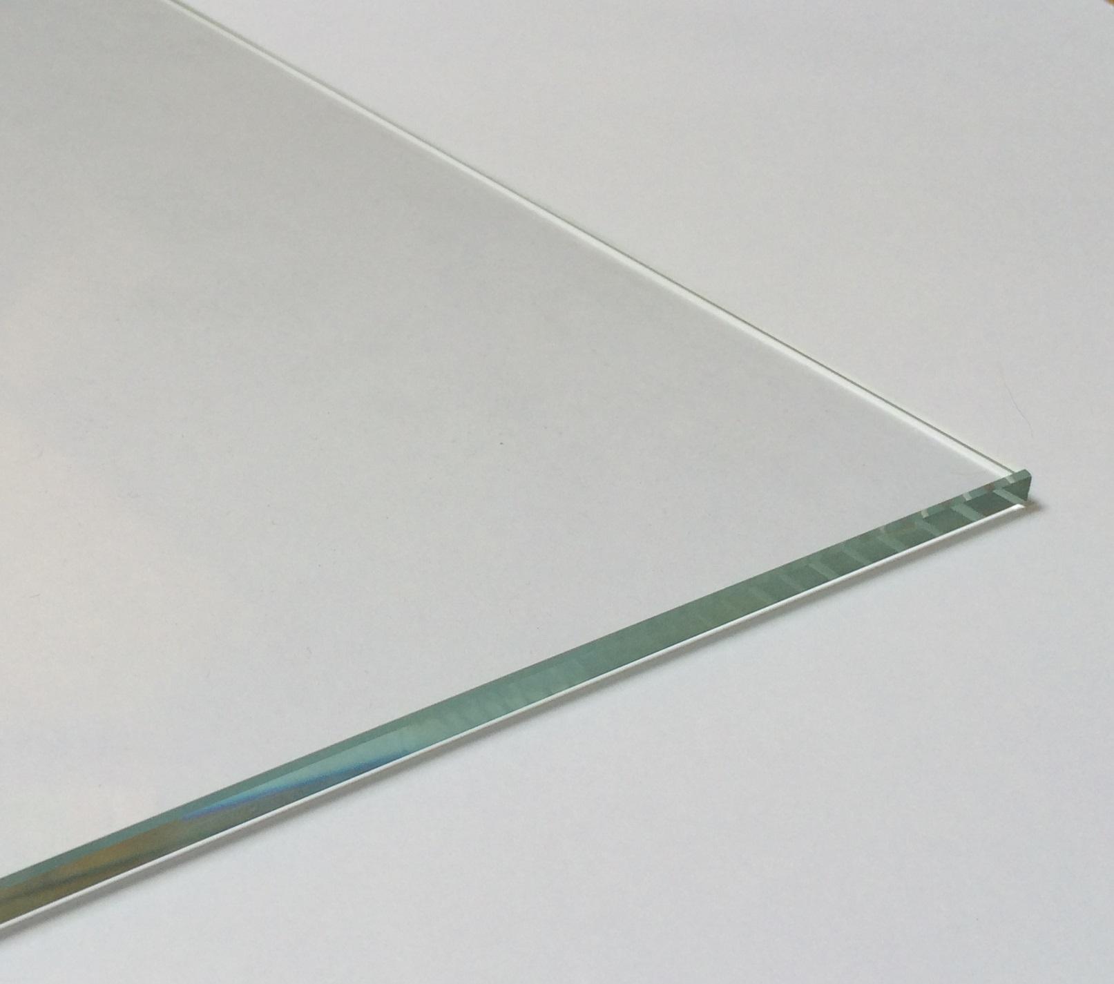 Kanten geschliffen und poliert klar durchsichtig Glasplatten ESG 4mm Ecken gesto/ßen biege- und sto/ßbelastbar. Einscheibensicherheitsglas ohne Stempel 900 x 1800 mm Nach Ma/ß bis 90 x 180 cm