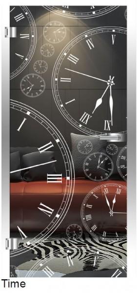 "Glastür ""Time"""