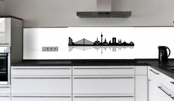 "Küchenrückwand Glasbild ""Skyline"" E"