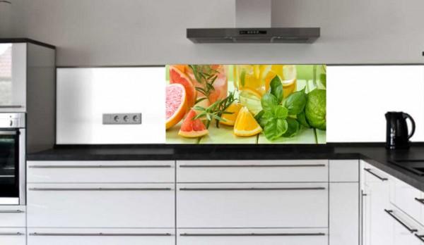 "Küchenrückwand Glasbild ""Obst"" E"
