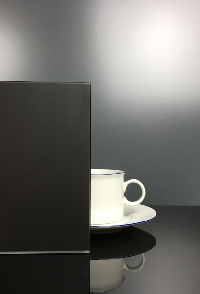 Küchenrückwand RAL 9005 Tiefschwarz matt F