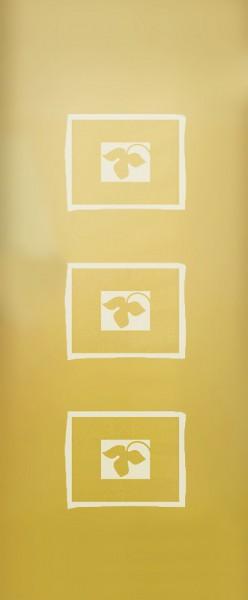"""ESG 4mm mit Sandstrahlmotiv """"Leef"""" Glaseinsatz"""