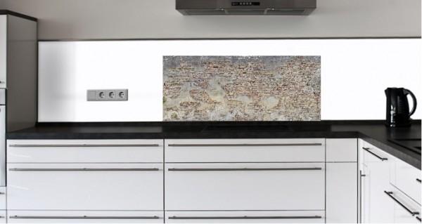 "Küchenrückwand Glasbild ""Alte Mauer"" E"