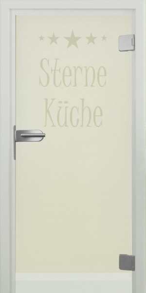 """Glastür """"Sterneküche"""""""