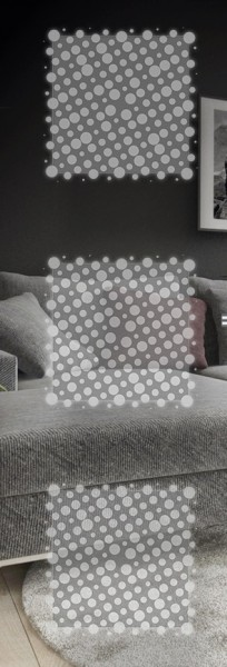 ESG 4mm Klarglas / Satinato Laser-Motiv MG 1.2016 Glaseinsatz