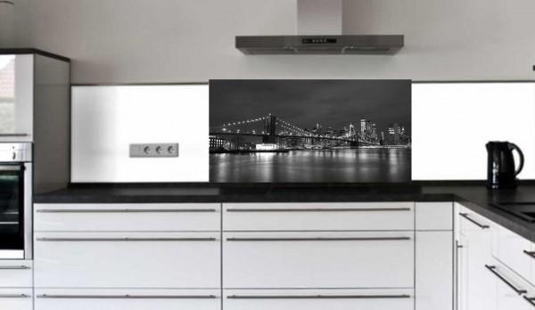"Rückwand Glasbild ""Brooklyn Bridge"" F"