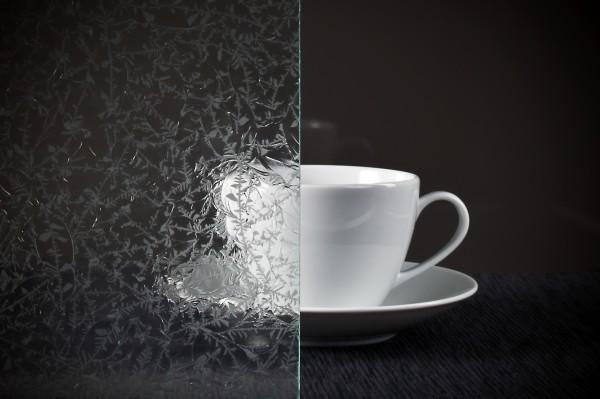 Glaseinsatz Eisblumenglas weiß