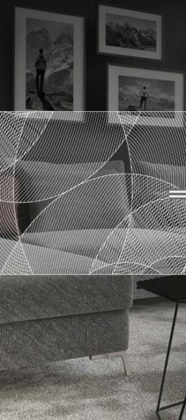 ESG 4mm Klarglas / Satinato Laser-Motiv MG 2.2046 Glaseinsatz