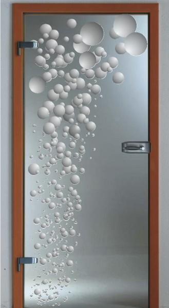 """Glastür """"Bubbles auf Klarglas"""""""