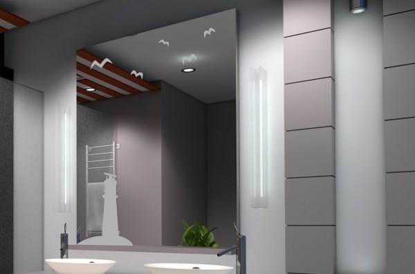 Design Spiegel 6mm silber