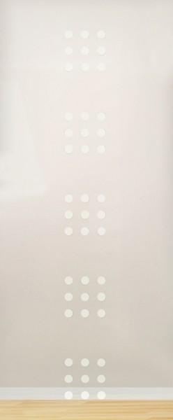 """ESG 4mm mit Sandstrahlmotiv """"Dots"""" Glaseinsatz"""