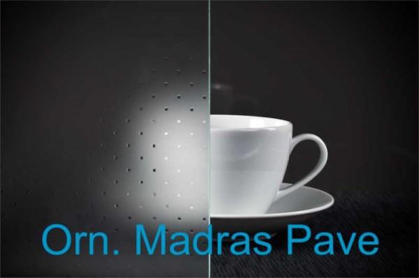 Schiebetür Ornamentglas Madras Pave