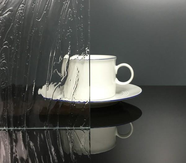 Glaseinsatz Barock weiß